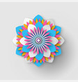 japanese origami flower isolated paper cut vector image vector image