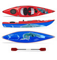 kayak with paddle vector image
