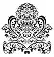 lace floral element vector image vector image