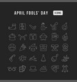 line icons april fools day vector image