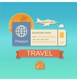 modern flat design web icon on airline vector image vector image