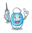 nurse oxygen mask character cartoon vector image