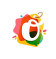 o letter logo with sale tag icon watercolor vector image vector image