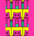 oh my god woman pattern omg girl in fear vector image