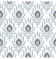 Peacock pastel blue seamless pattern vector image vector image
