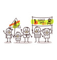 people against shale gas extract vector image vector image