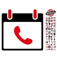 Phone Calendar Day Flat Icon With Bonus vector image vector image