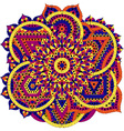 Round pattern with seven chakras vector image