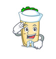 sailor burrito character cartoon style vector image vector image