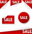 sale labels vector image vector image