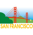 san francisco golden gate bridge symbol vector image