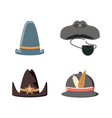 set hats carnival accessories vector image