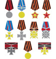 set of crosses and medals vector image vector image