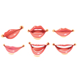 sexy woman smile lips vector image vector image