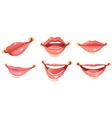sexy woman smile lips vector image vector image