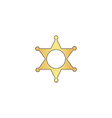 Sheriff star computer symbol vector image