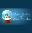 snowglobe banner for xmas holiday vector image