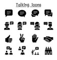 speech discussion speaking meeting hand language vector image vector image