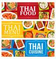 thailand cuisine restaurant food banners vector image vector image