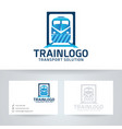 train logo design vector image vector image