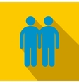 Two male flat icon with shadow vector image vector image