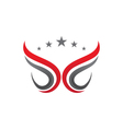 V Wing Logo Template vector image vector image