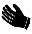 Winter gloves icon simple style vector image vector image