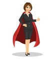 young businesswoman wearing superhero costume vector image