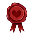 Heart Wax Seal vector image