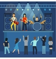 Rock concert guitar and musician musical vector image