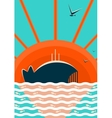 Sea Landscape with Whale Background vector image
