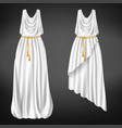 ancient greek womans chitons realistic vector image vector image