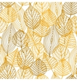 Autumnal leaves seamless pattern vector image
