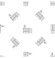 baby room bed pattern seamless vector image