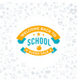 Back to school typographic badge design