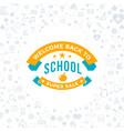 back to school typographic badge design vector image