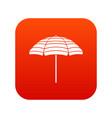beach umbrella icon digital red vector image vector image