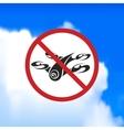 Beautiful sign forbidding flight drone vector image vector image