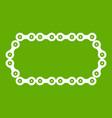 bicycle chain icon green vector image vector image