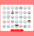 Big set smiles faces collection smile icon symbol