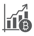 bitcoin chart glyph icon finance and economy vector image vector image