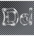 Bubbles letters D vector image vector image