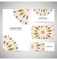 Business card template in native style vector image vector image
