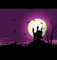 cartoon halloween background vector image vector image