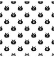 cat head pattern seamless vector image vector image