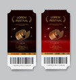 Cinema tickets film festival invitations