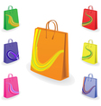 collection of shopping bags vector image