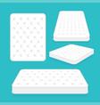 comfortable double mattress for sleeping vector image