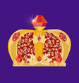 crown for carnival vector image vector image