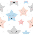 cute star night seamless pattern background vector image vector image